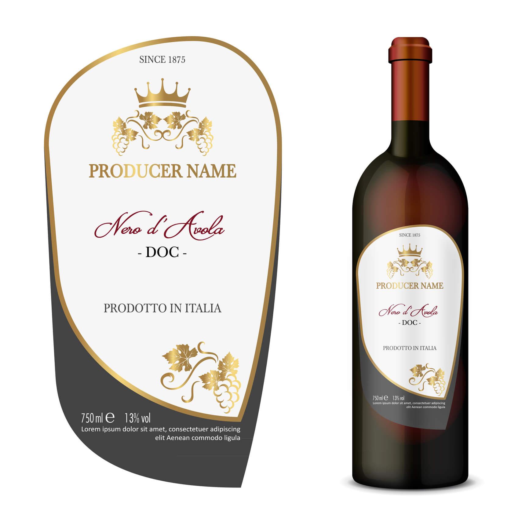Etiquetas de vino y licores Zonten